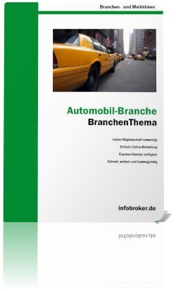 Cover BranchenThema Automobil 2013
