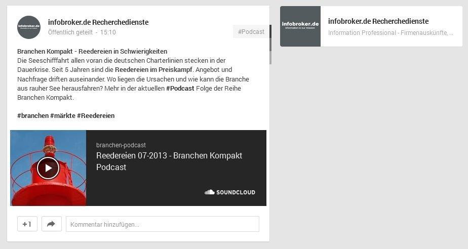 soundcloud-branchen-podcast-auf-google-plus