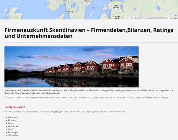 firmenauskunft-skandinavien-uebersichtsseite
