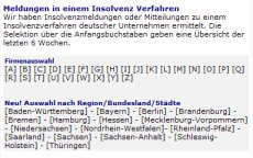 screenshot-insolvenzen-buchstaben-a-z