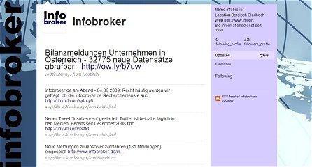 infobroker.de bei Twitter