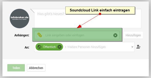 soundcloud-link-eintragen