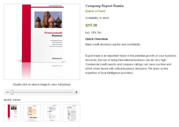 Company Reports Russia - Company Check - Rating Data - Financials