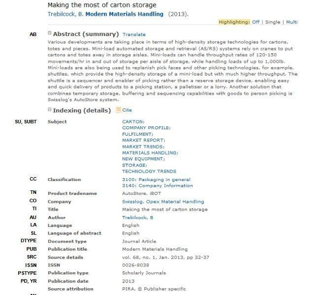 Datenbank für die Dating-Profile